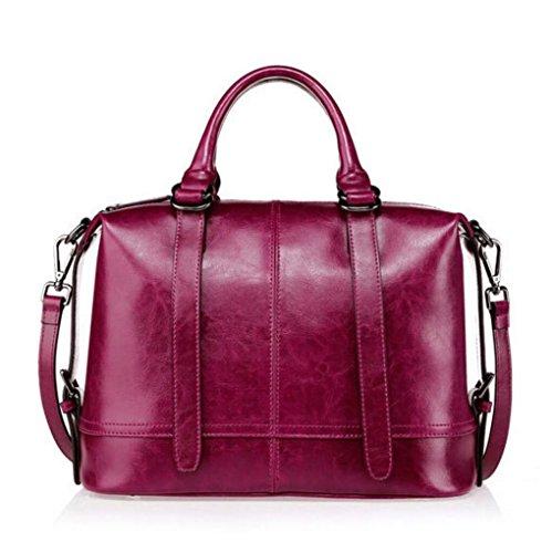 Damen Handtaschen Leder Umhängetasche Mode lässig diagonal Tasche , 3