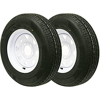 2 New trailer tire wheel assembly ST185/80R13 6PR on 13