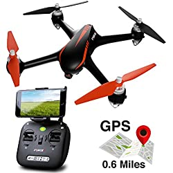 Force1 Drone with Camera Live Video and GPS Return Home