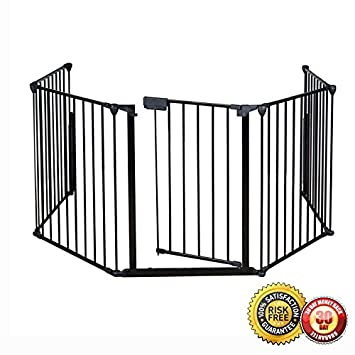 Amazon.com : New Fireplace Fence Baby Safety Pet Gate Dog Barrier ...