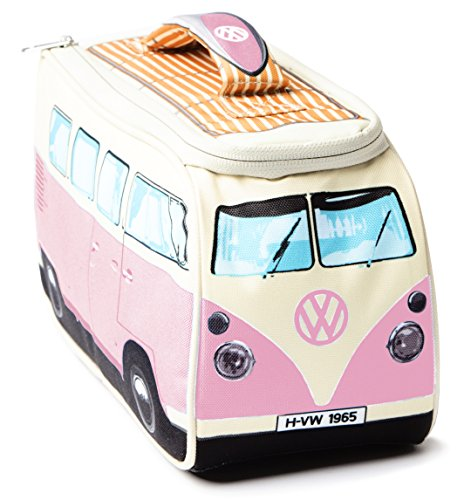 VW Volkswagen T1 Camper Van Lunch Bag - Pink - Multiple Color Options Available