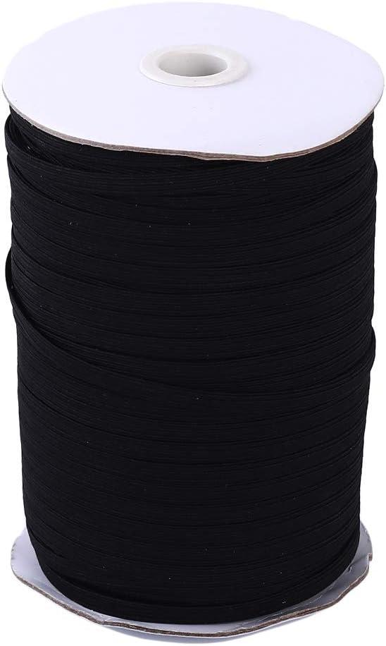 cuerda el/ástica 1000cm*0.3cm blanco tejido el/ástico de elastano Rollo de cinta el/ástica para costura Moonring