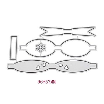 Guoqia - Plantilla para troquelar, diseño de lazo con texto en ...