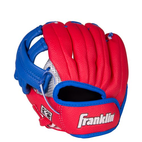Franklin Sports Air Tech Teeball Glove - Lightweight Foam Fielding Glove and Foam Ball - 9.0 Inch - Ready To Play Construction - Left Hand Throw - Colors May Vary