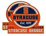 Syracuse Orange Jumbo Tailgate Magnet Set of 2