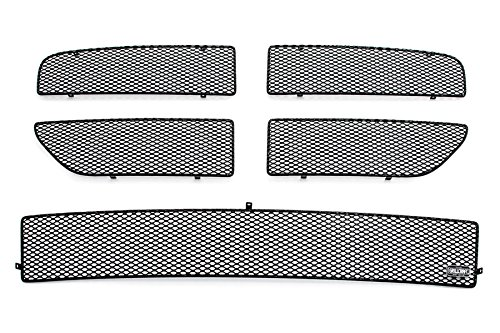 Dodge Magnum Mesh (GrillCraft D3050-51B MX Series Black Upper 4pc & Lower 1pc Mesh Grill Grille Insert for Dodge Magnum)
