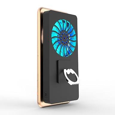 5000 mAh de refrigeración ventilador soporte de calor radiador USB banco de energía recargable ultra silencioso