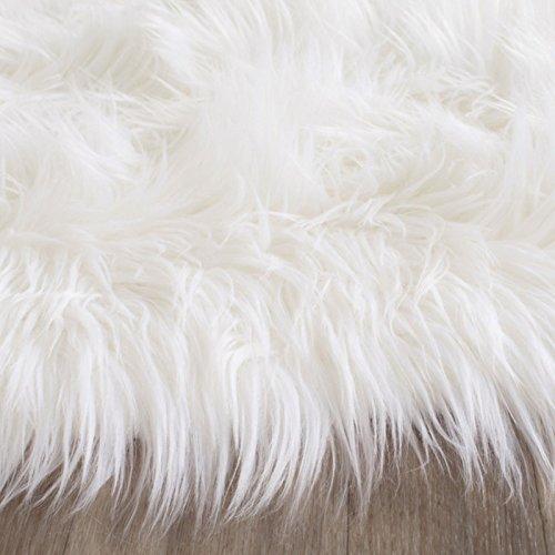 Safavieh Faux Silky Sheepskin Fss235a Ivory Area Shag Rug