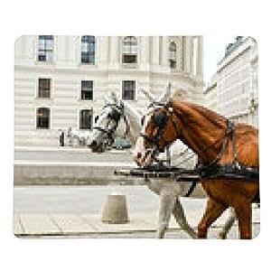 alfombrilla de ratón Carruaje tirado por caballos - rectangular - 23cm x 19 cm