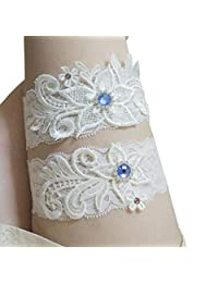 Bhwin Rhinestones Lace Garter Wedding Garter Bridal Garter Belt Set