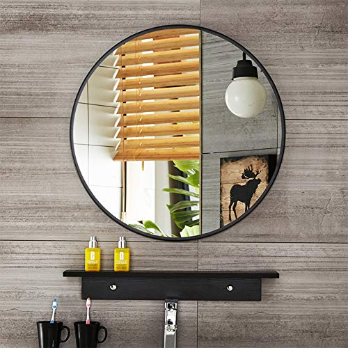Leafshop Wall Mirror Alloy Frame Large Round Vanity Wall Hanging Mirrors for - Mirrors Room And Bathroom Board