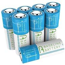 8 Baseline Battery 1000 mAh IFR 18500 3.2v LiFePO4 Lithium Phosphate Rechargeable Batteries Solar Garden Light