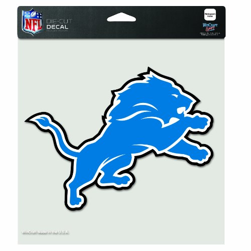 NFL Detroit Lions 8-by-8 Inch Diecut Colored Decal Detroit Lions Football Pin