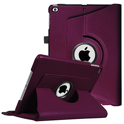 Fintie iPad 9.7 inch 2017 / iPad Air Case - 360 Degree Rotating Stand Cover with Auto Sleep Wake for Apple iPad 9.7 inch 2017 Tablet / iPad Air 2013 Model, Purple