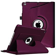 Fintie New iPad 9.7 inch 2017 / iPad Air Case - 360 Degree Rotating Stand Cover with Auto Sleep Wake for Apple New iPad 9.7 inch 2017 Tablet / iPad Air 2013 Model, Purple