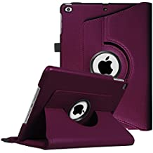 """Fintie iPad 9.7 inch 2018 2017 / iPad Air Case - 360 Degree Rotating Stand Protective Cover with Auto Sleep Wake for Apple iPad 9.7"""" (6th Gen, 5th Gen) / iPad Air 2013 Model, Purple"""