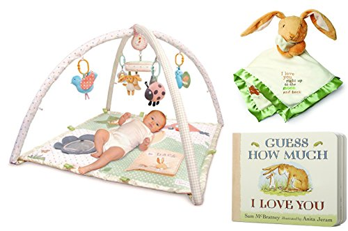 Guess How Much I Love You Activity Gym Playset, Guess How Much I Love You Nutbrown Hare Snuggle Blanky and Guess How Much I Love You by Sam McBratney Board Book Bundle