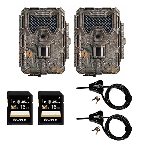 bushnell-14mp-trophy-cam-hd-aggressor-low-glow-ir-game-camera-realtree-xtra-2-pack-bundle