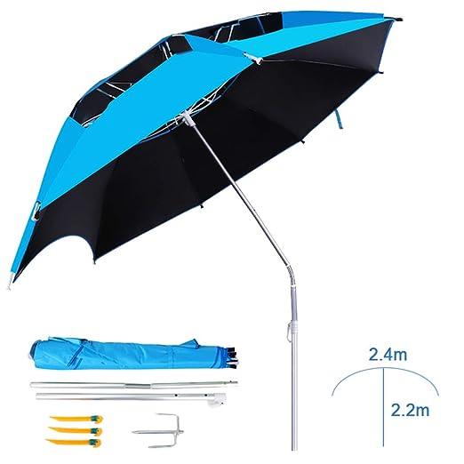 WWWRL - Paraguas de Doble Capa (2,4 m, 2,2 m, inclinación y ...