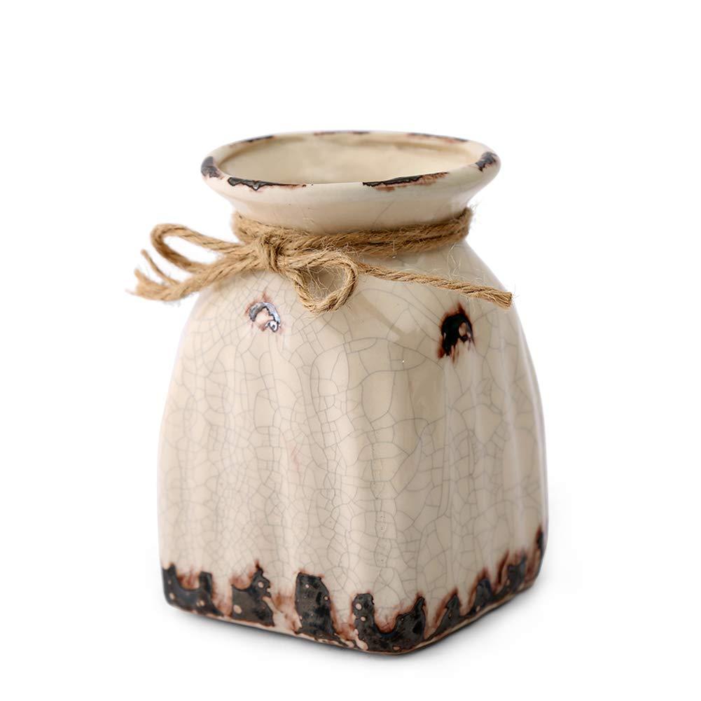 Anding Beige vase/Ceramic / Modern White Vase/Wedding Decoration/Flower Vase/Kitchen Storage