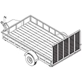"6′ 10"" x 12′ Utility Trailer Plans - 3,500 lb Capacity | Trailer Blueprints Model U82-144-35J"