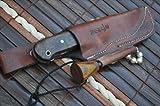 Sale - Custom Handmade Damascus Hunting Knife Beautiful Bushcraft Knife with Sheath And Knife Sharpener