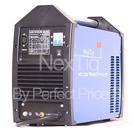 Soldador inverter TIG Wig AC/DC Puls nextig NX 250 TIG Alu Puls + Spot Welding: Amazon.es: Bricolaje y herramientas