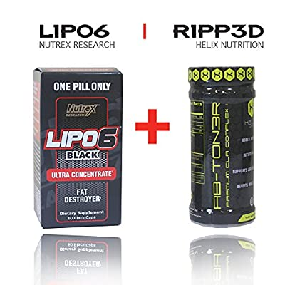 Lipo by Nutrex Research 6 Black 60caps + Ab-ton3r: A Stimulant-free Metabolic Activating Formula Designed to Help Target Abdominal Fat.