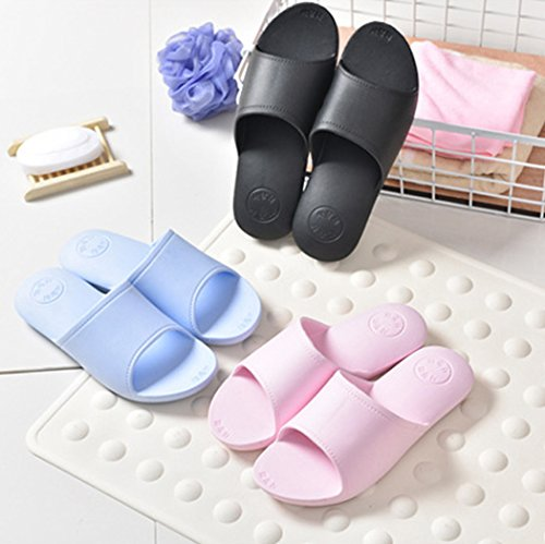 Zapatillas De Baño, outgeek 1 Par Zapatillas De Baño Inicio Zapatillas De BañO EVA Ligero Antideslizante para Adultos Black