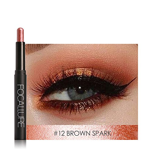 Eyeshadow , Hunzed Beauty Pro Highlighter Eyeshadow Pencil Cosmetic Smoky Eyeshadow Cosmetic Glitter Eye Shadow Pen Makeup New eyeshadow (L)