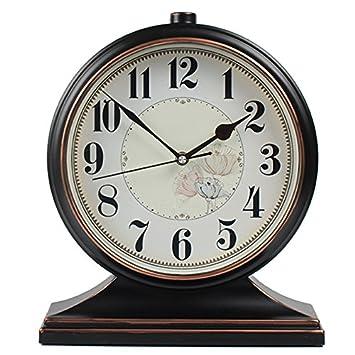 Reloj de pared de madera- Salón de péndulo decorativo Reloj de mesa americano Reloj retro
