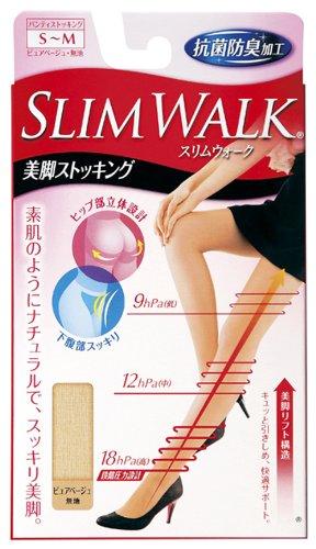 Slim Walk Stockings Stockings Legs Pure Beige S ~ M