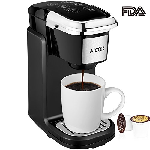 : Aicok Single Serve Coffee Maker, Coffee Machine with Removable Cover for Most Single Cup Pods including K-CUP pods, AC507