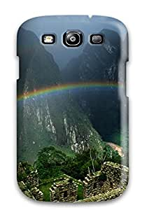 Rugged Skin Case Cover For Galaxy S3- Eco-friendly Packaging(landscape) Sending Screen Protector in Free