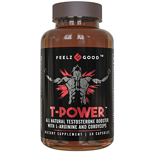 Power Ginseng - T-Power! -Testosterone BOOSTER (30 Capsules) – Naturally Boost Strength & Vitality - 11 Powerful Ingredients Including Premium Horny Goat Weed Extract Maca Tribulus & Ginseng Natural Energy