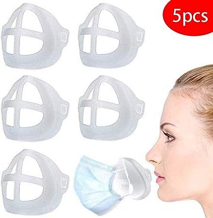 Soporte Facial 3D Marco de Apoyo Interno para protecci/ón Facial y Personas Que Usan Gafas Puede Reducir el empa/ñamiento de Las Gafas Marco de Soporte Interno de Silicona Reutilizable y Lavable.
