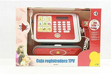 CAJA REGISTRADORA CON LUZ, SONIDO Y CALCULADORA: Amazon.es: Juguetes y juegos
