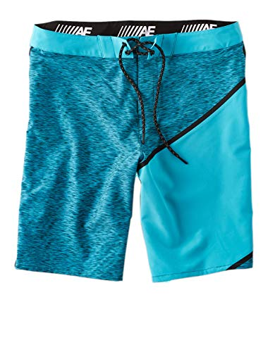 American Eagle Outfitters Men's AE Classic Colorblock Board Shorts Teal Black (X-Large) ()