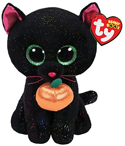 Ty Beanie Boos Potion - Black cat w/Pumpkin -