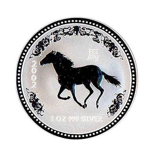 - 2002 AU Australia 1 oz Silver Year of the Horse 1 Brilliant Uncirculated