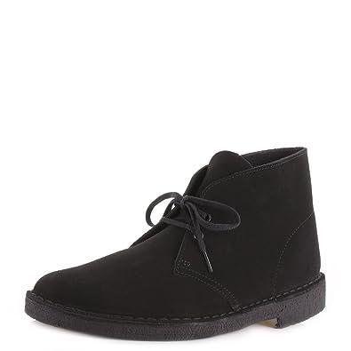 8814f331e350f7 Clarks pour Homme en Cuir et Daim Noir de la Marque Desert Boots Chaussures  de détente