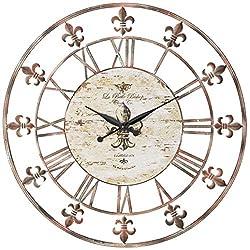 Deco 79 13813 Metal Clock 36 D, Antique Brown