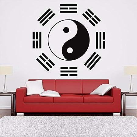 guijiumai Ying Yang Sign Logo Aikido Pegatinas de Pared extraíbles ...