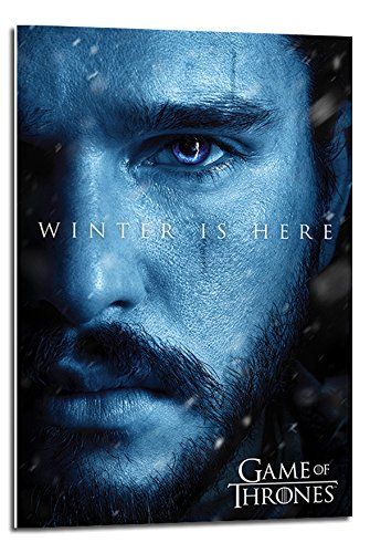 Game Of Thrones Jon Winter Is Here Poster Float Mounted - 90