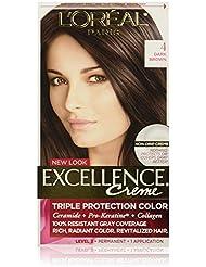 L'Oreal Paris Excellence Creme Hair Color, 4 Dark Brown