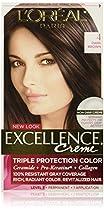 L'Oréal Paris Excellence Créme Permanent Hair Color, 4 Dark Brown