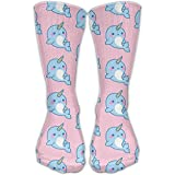 Novelty Special Narwhal Ocean Animal Crew Socks Knee Christmas Socks For Girls