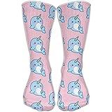 Novelty Special Narwhal Ocean Animal Crew Socks Knee Christmas Socks For Girls
