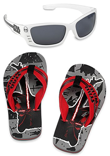 Disney Store Star Wars Flip Flop Sandals and Sunglasses Set, Size 9-10 US - Flip And Flops Sunglasses