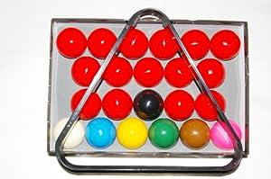 nanook Sport Snooker Kugeln 52,4 mm hochglanzpoliert inkl. Snookerdreieck
